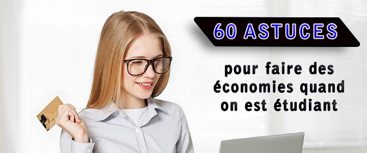 60 astuces pour faire des économies quand on est étudiant