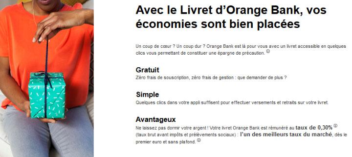 Orange Bank avis livret d'épargne